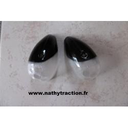 La paire de cabochon Noir / blanc