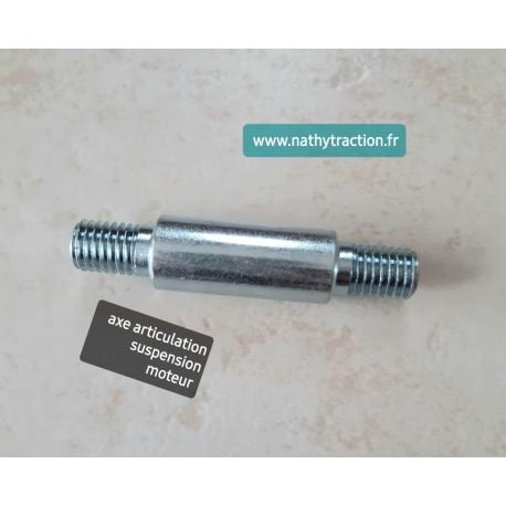 Axe articulation suspension moteur