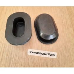 Paire bouchon ovale avant d ecapot TRACTION 11/15CV