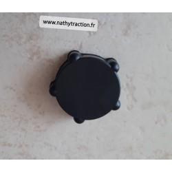 Molette caoutchouc pour volet air noir 2CV