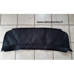 Plage arrière tissu daim noir