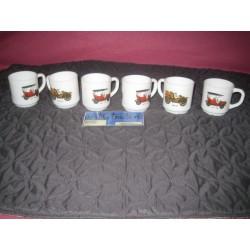 Les 6 tasses vieux TACOTS BUICK et MORS